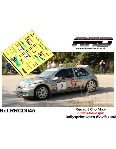 Renault Clio Maxi Callen-Vallespin Rallysprint Open d'Avià 2008