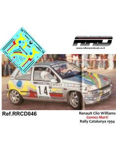 Renault Clio Williams Gomez-Marti Rally Catalunya 1994