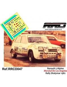 Renault 5 Copa Moratal-De los Angeles Rally Shalymar 1982