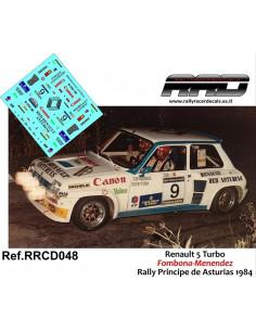 Renault 5 Turbo Fombona-Menendez Rally Principe de Asturias 1984