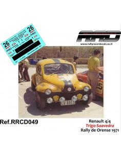 Renault 4-4 Trigo-Saavedra Rally Orense 1971