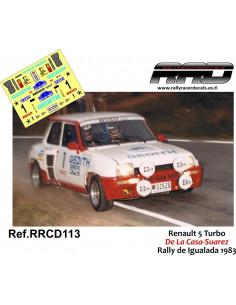 Renault 5 Turbo De la Casa-Suarez Rally de Igualada 1983