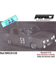 Renault 8 Ruiz Gimenez-Cañedo Rally de Gerona 1968
