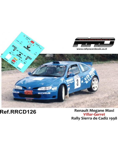 Renault Maxi Megane Villar-Garret Rally Sierra de Cadiz 1998