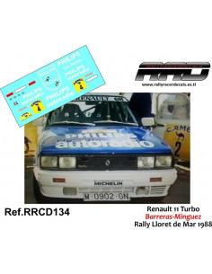 Renault 11 Turbo Barreras-Minguez Rally Lloret de Mar 1988