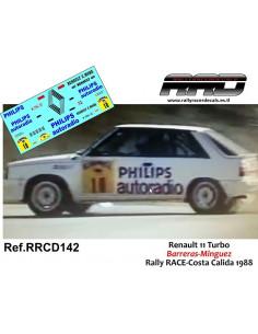 Renault 11 Turbo Barreras-Minguez Rally RACE-Costa Calida 1988
