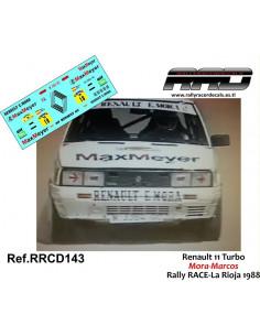 Renault 11 Turbo Mora-Marcos Rally RACE-La Rioja 1988