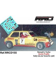 Renault 5 Turbo Davila-Trujillo Rally Isla de Tenerife 1988