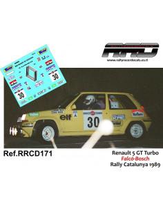Renault 5 GT Turbo Falco-Bosch Rally Catalunya 1989