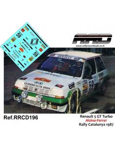 Renault 5 GT Turbo Alsina-Ferrer Rally Catalunya 1987