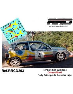Renault Clio Williams Gomez-Marti Rally Principe de Asturias 1994