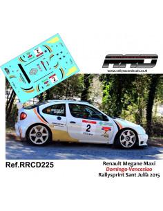 Renault Megane Maxi Domingo-Venceslao Rallysprint Sant Julia 2015
