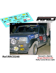 Renault 5 Alpine Kruupa-Mystkowsky Rally Costa Brava 1980