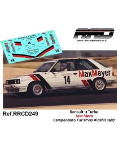 Renault 11 Turbo Jose Mora Alcañiz 1987