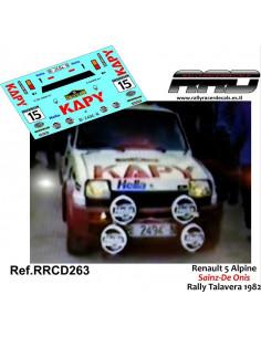 Renault 5 Copa Sainz-De Onis Rally Talavera 1982