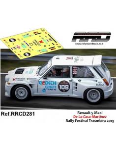 Renault 5 Maxi De La Casa-Martinez Rally Festival Trasmiera 2019