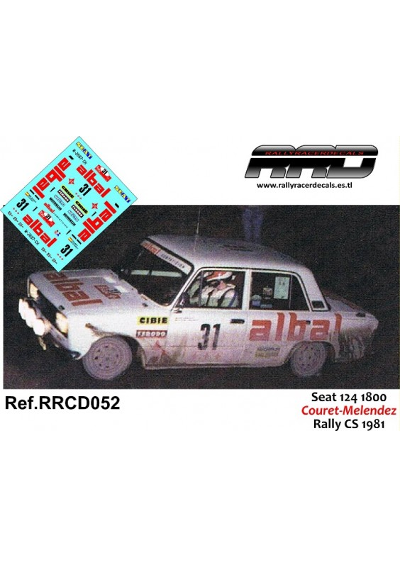 Seat 124 1800 Couret-Melendez Rally CS 1981
