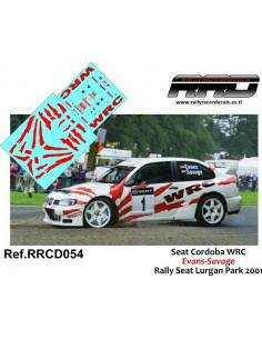 Seat Cordoba WRC Evans-Savage Rally Seat Lurgan Park 2001