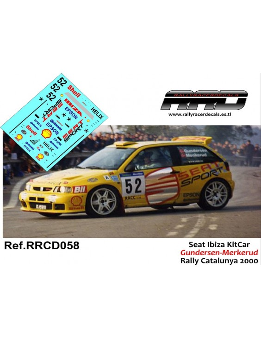 Seat Ibiza KitCar Menkerud-Gundersen Rally Catalunya 2000