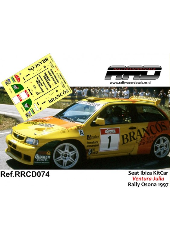 Seat Ibiza KitCar Ventura-Julia Rally Osona 1997