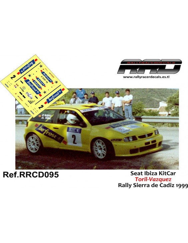 Seat Ibiza KitCar Toril-Vazquez Rally Sierra de Cadiz 1999