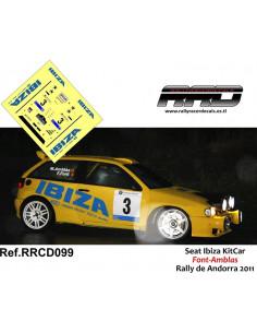 Seat Ibiza KitCar Font-Amblas Rally Andorra 2011