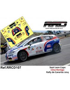Seat Leon Copa Cima-Noriega Rally de Canarias 2014