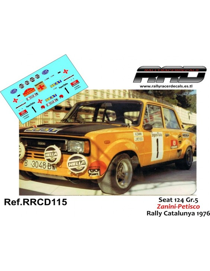 Seat 124 Zanini-Petisco Rally Catalunya 1976