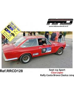Seat 124 Sport Clua-Lopez Rally Costa Brava 2014