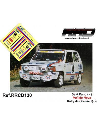 Seat Panda 45 Vallejo-Novo Rally Orense 1986