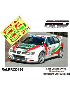 Seat Cordoba WRC Mateo-Lozano Rallysprint Sant Julià 2014