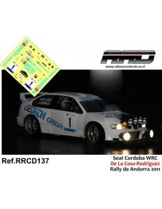 Seat Cordoba WRC De la Casa-Rodriguez Rally de Andorra 2011