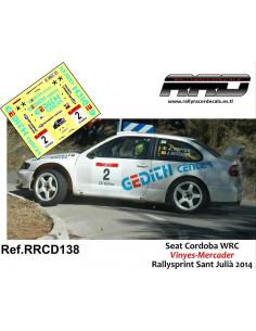 Seat Cordoba WRC Vinyes-Mercader Rallysprint Sant Julià 2014