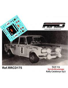 Seat 124 Servia-Brustenga Rally Catalunya 1977