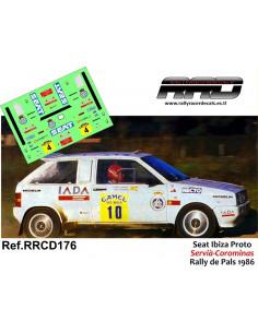 Seat Ibiza Bimotor Proto Servia-Corominas Rally de Pals 1986