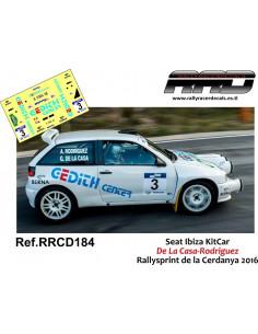 Seat Ibiza KitCar De la Casa-Rodriguez Rallysprint de la Cerdanya 2016