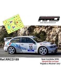 Seat Cordoba WRC Gerard De La Casa Pujada a Alcover 2017