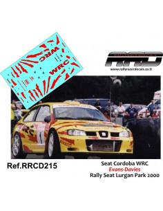 Seat Cordoba WRC Evans-Davies Seat Lurgan Park 2000