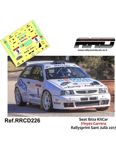 Seat Ibiza KitCar Vinyes-Carrera Rallysprint Sant Julia 2017
