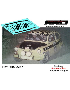 Seat 600 Bardolet-Clara Rally de Olot 1982