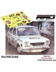 Seat 127 Servia-Imbers Rally Montecarlo 1973