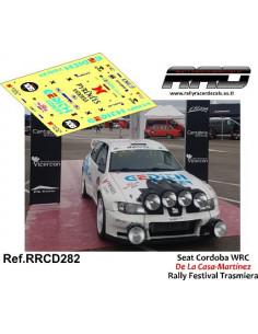 Seat Cordoba WRC De La Casa-Martinez Rally Festival Trasmiera 2019