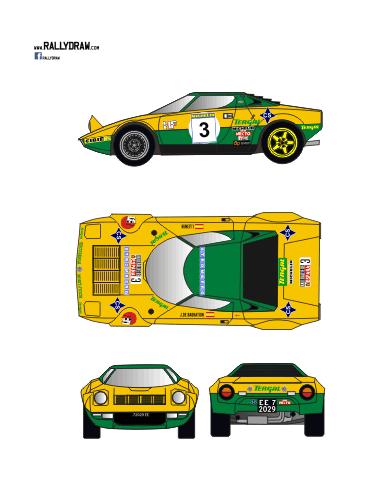Lancia Stratos Bagration Race 1975