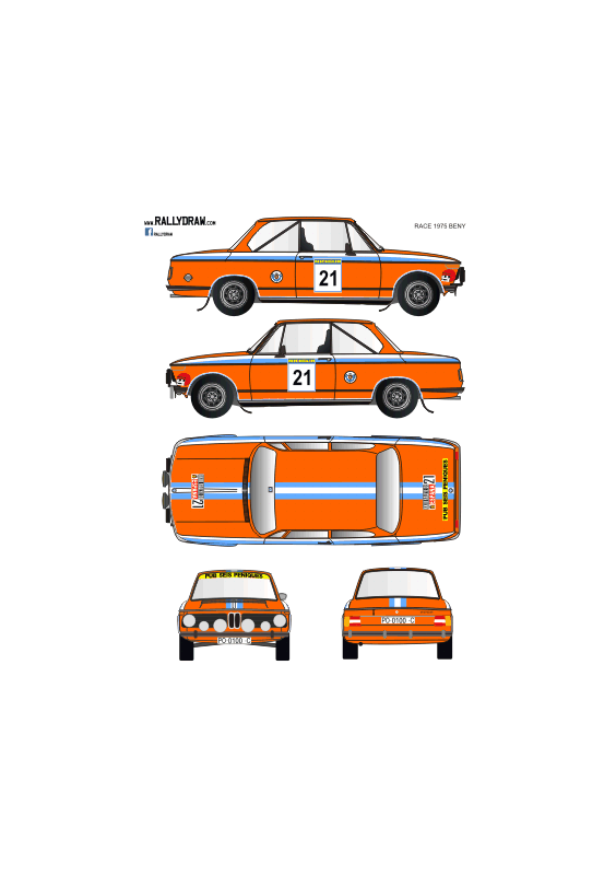 BMW 2002 Beny Race 1975