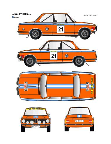 BMW 2002 Beny Race 1975