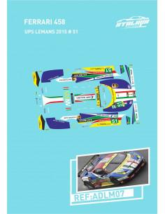 Ferrari 458 UPS Le Mans 2015