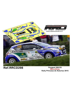 Peugeot 208 R2 Mora-Arias Rally Princesa de Asturias 2015