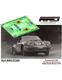 Porsche 911 RS Santacreu-Santacreu Rally Costa Brava 1978