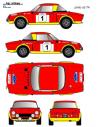 Fiat 124 Abarth Pinto Costa Brava 1974
