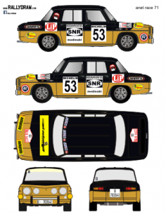 Renault 8 Anet Race 1971